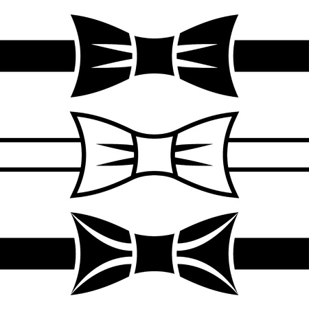 vector bow tie black symbols Vector