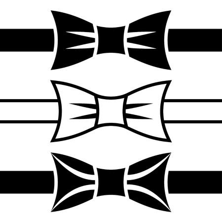 lazo negro: vector de s?mbolos pajarita negra