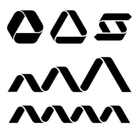 ruban noir: vecteur symboles ruban noir