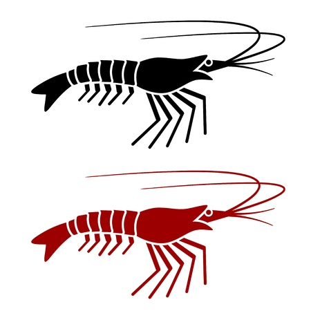 vector shrimp silhouette Vector