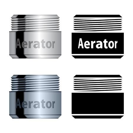 aeration: vector water saving aerator