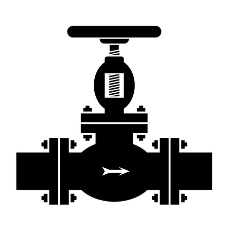steel factory: vector industrial valve symbol