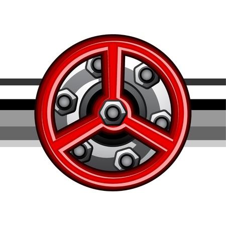 vector red industrial valve Stock Vector - 19587395