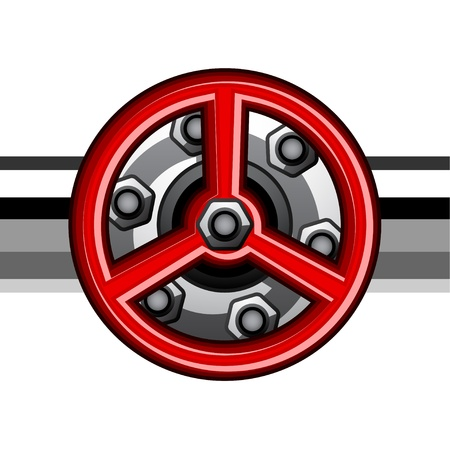 vector red industrial valve Ilustrace