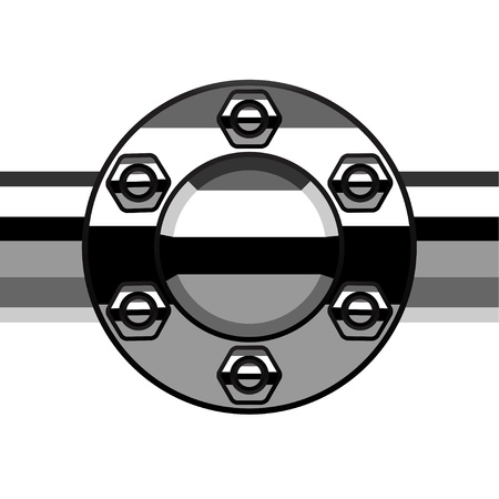 flange: vector chrome termination flange pipe