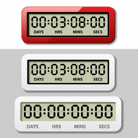 LCD counter - countdown timer Stock Vector - 19587411