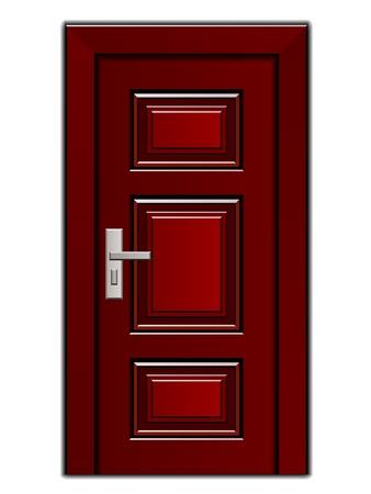 vector luxury mahogany wooden entrance door Stock Vector - 19587388