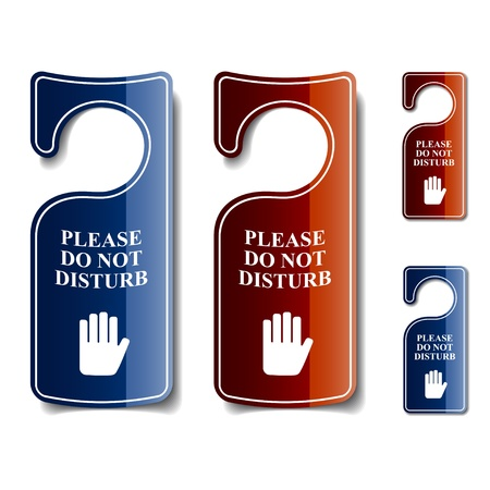 do not disturb sign: vector do not disturb door hangers