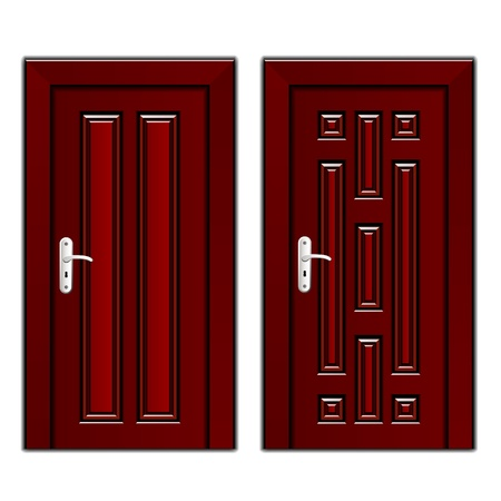 vector luxury mahogany wooden door Vector