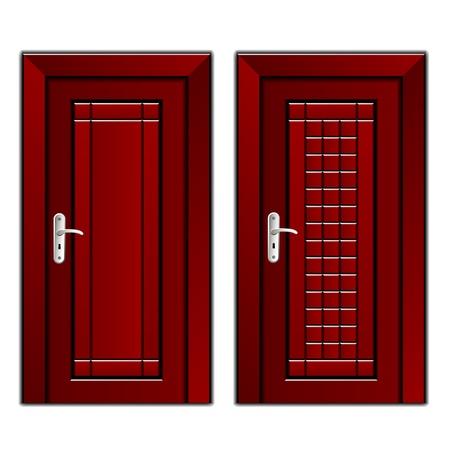 caoba: vector de caoba de lujo puerta de madera Vectores
