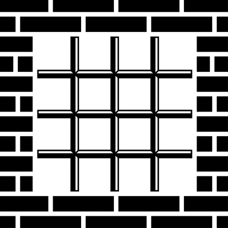 ancient prison: vector grate prison window black symbol