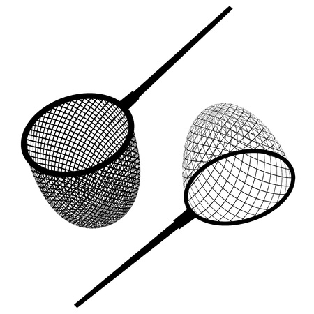 traps: vector fishing net black icon