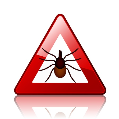 vector Ixodes ricinus tick road warning sign Stock Vector - 21166927