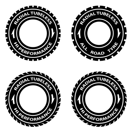 haltbarkeit: Vektor radial tubeless hallo Performance Reifen Symbole
