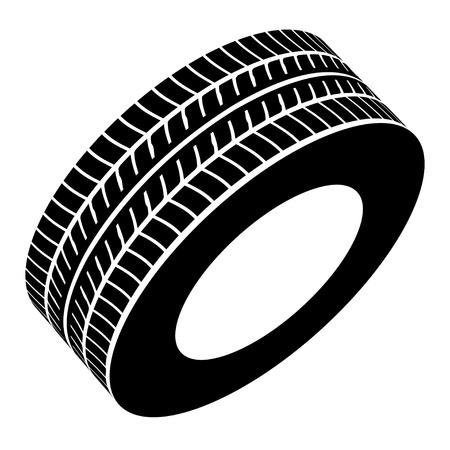 벡터 검은 타이어의 상징
