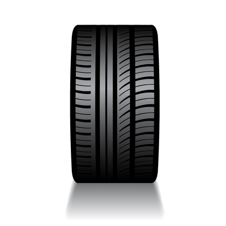 vector rubber tyre with shadow Illustration