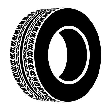 vector black terrain tyre symbol Vettoriali