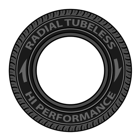 vector radial tubeless tyre Stock Vector - 21166942