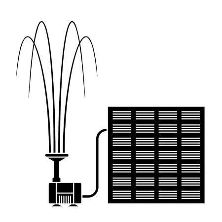 bomba de agua: vector bomba de agua de la fuente solar