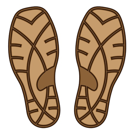 underside: vector brown rubber shoe sole Illustration