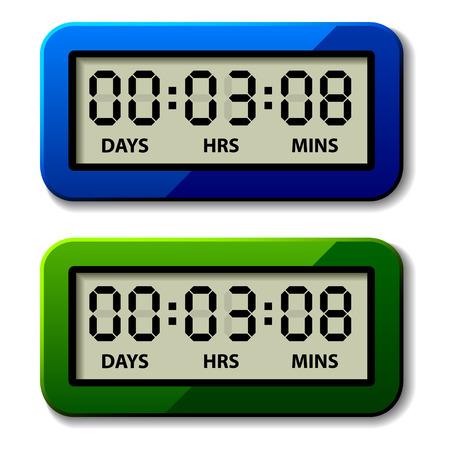 vector LCD counter - countdown timer Stock Vector - 22208554