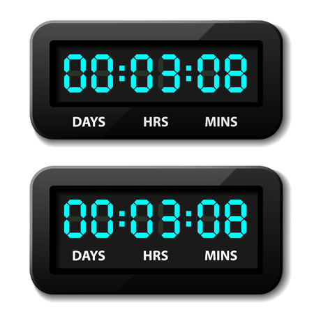 vector glowing digital counter - countdown timer Stock Vector - 22208559
