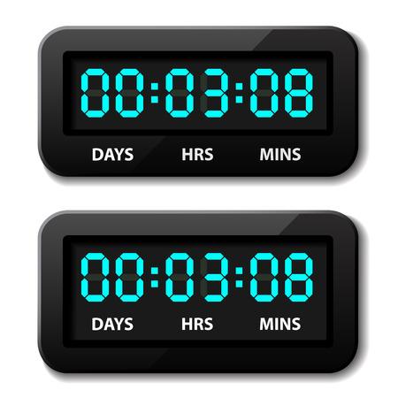 vector glowing digital counter - countdown timer Stock Vector - 22208559
