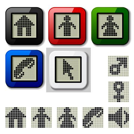 vector LCD display pixel symbols Stock Vector - 22208566