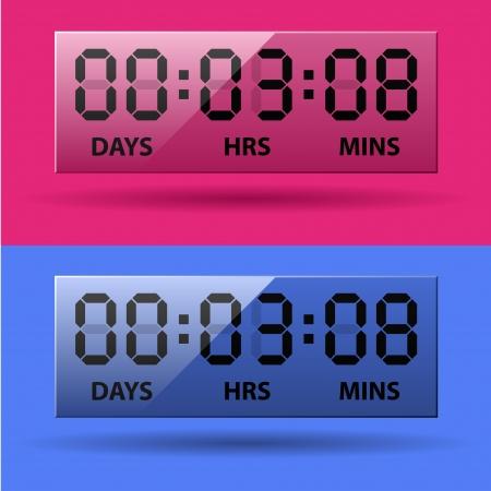 vector LCD counter - countdown timer Stock Vector - 22208570