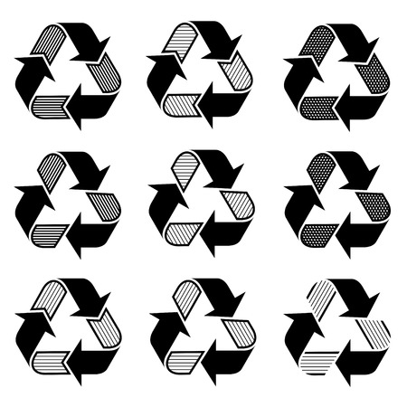 vector ornate recycle symbols Stock Vector - 22208626