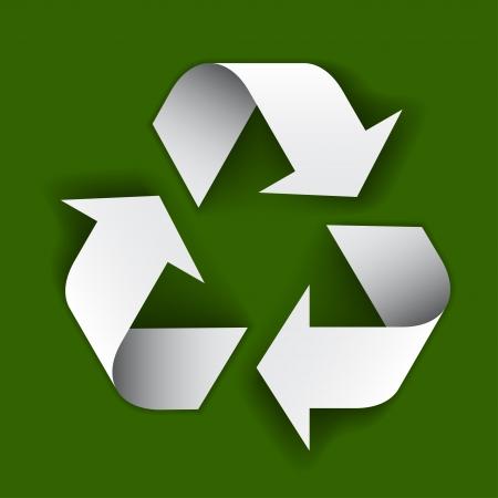 vector paper recycle symbol Stock Vector - 22208628