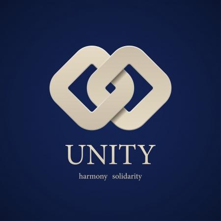 integridad: unidad vector plantilla de diseño de símbolo