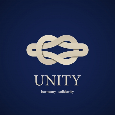 vector unity knot symbol design template Illustration