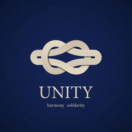 harmony united: vector unity knot symbol design template Illustration