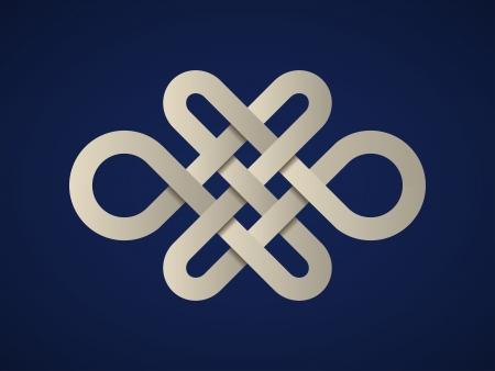 ベクトル紙無限ケルト族の結び目  イラスト・ベクター素材