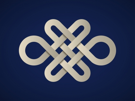 vector paper endless celtic knot 일러스트