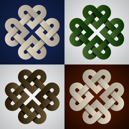 endless: vector paper endless celtic knots