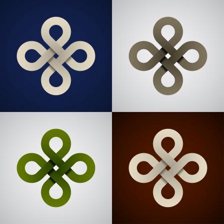 紙無限ケルト族の結び目をベクトルします。
