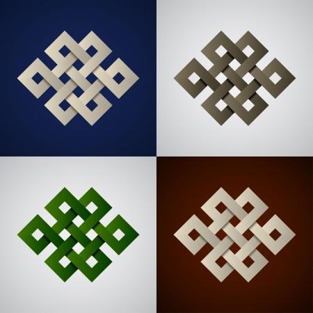 endless: vector paper endless celtic knots