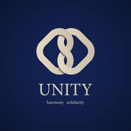 ベクトル団結結び目シンボル デザイン テンプレート