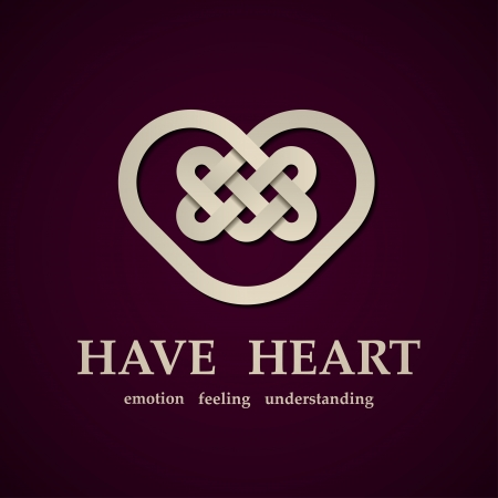 celtic heart symbol design template