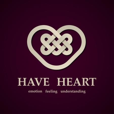 celtic heart symbol design template