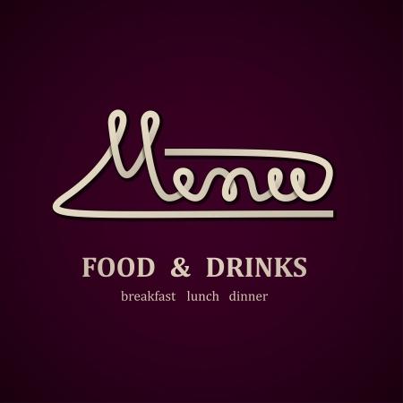 dinner menu: restaurant menu design template