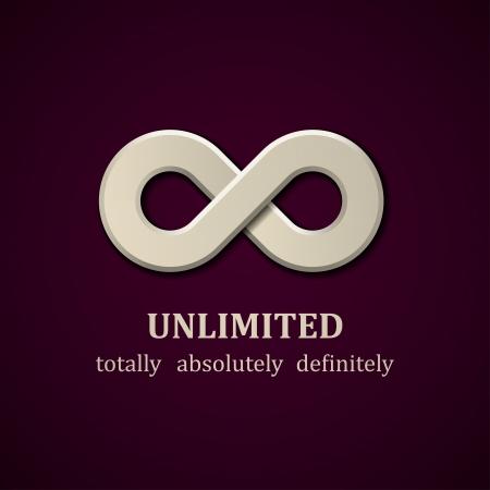 abstract unlimited symbol design template Vettoriali