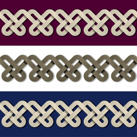 seamless paper knot frame Vector