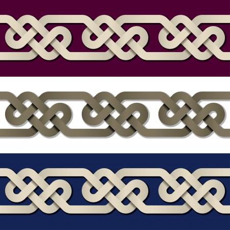 endless: seamless paper knot frame Illustration