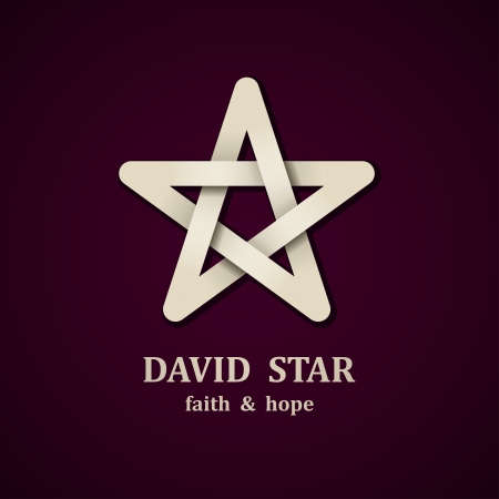 jewish star: David star symbol design template