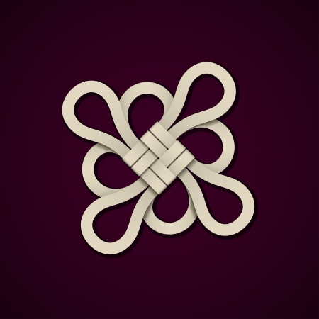 infinity icon: paper chinese knot design template