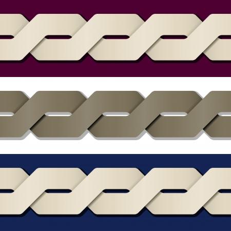 weaving: seamless paper knot frame Illustration