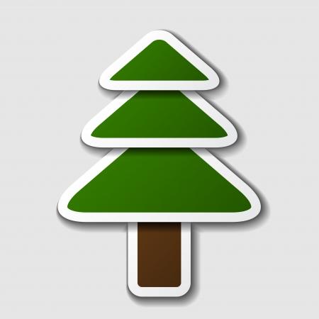 spruce tree: vector paper spruce tree symbol